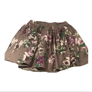 UO lux Purple and grey floral skirt 1 short
